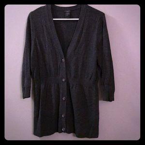 Charcoal 3/4 Sleeve Sweater